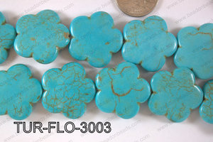 Howlite Flower 30mm TUR-FLO-3003