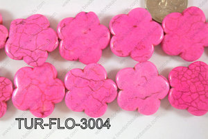 Howlite Flower 30mm TUR-FLO-3004