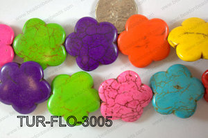 Howlite Flower 30mm TUR-FLO-3005