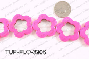 howlite peace hot pink 35mm TUR-FLO-3206