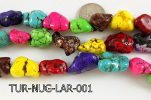 Turquoise Nugget Large Multi-Color 16 '' TUR-NUG-LAR-001