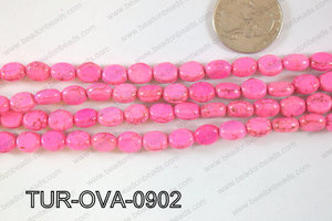 Howlite Oval 9x7mm TUR-OVA-0902