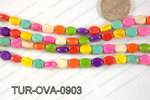 Howlite Oval 9x7mm TUR-OVA-0903