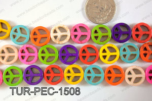 Howlite Peace 15mm TUR-PEC-1508