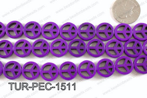 howlite peace purple 35mm TUR-PEC-1511