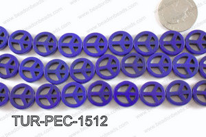 howlite peace dark blue 35mm TUR-PEC-1512