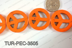 howlite peace orange 35mm TUR-PEC-3505