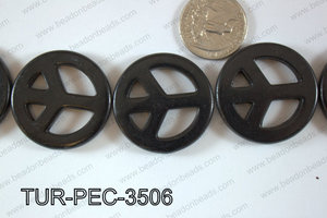 howlite peace black 35mm TUR-PEC-3506