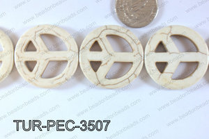 howlite peace white 35mm TUR-PEC-3507