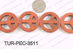 howlite peace brown 35mm TUR-PEC-3511