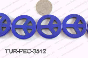 howlite peace dark blue 35mm TUR-PEC-3512