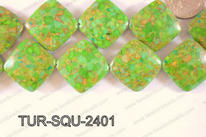 Turquoise chip composite Square 24mm TUR-SQU-2401