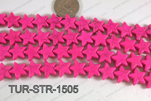 Howlite Star Hot Pink 15mm TUR-STR-1505