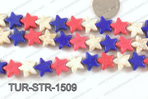 howlite star 15mm multicolor TUR-STR-1509