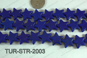 Howlite Star Dark Blue 20mm TUR-STR-2003