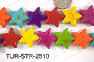 Turquoise Star 26mm TUR-STR-2610