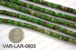 Large hole variscite tube 6x8mm VAR-LAR-0803