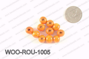 Round Wood Beads Orange 10mm WOO-ROU-1005
