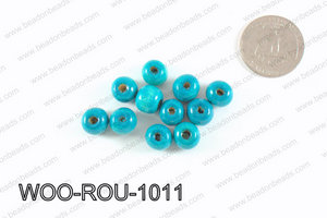 Round Wood Beads Turquoise 10mm WOO-ROU-1011