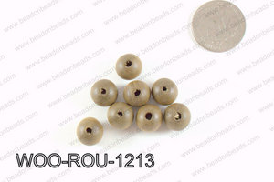 Round Wood Beads Brown 12mm WOO-ROU-1213