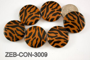 Zebra Bead Coin 30mm 500 Gram Bag ZEB-CON-3009