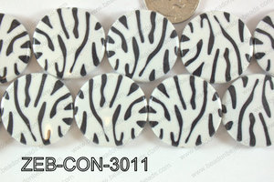 Zebra Bead Coin 30mm ZEB-CON-3011