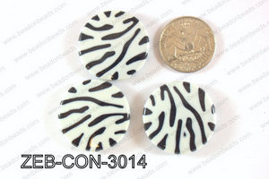 Zebra Coin 30mm ZEB-CON-3014