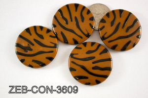 Zebra Bead Coin 36mm 500 Gram Bag ZEB-CON-3609