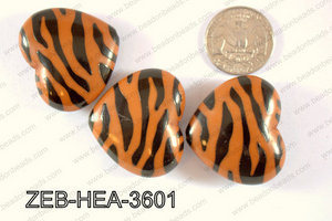 Zebra Heart 36x32mm ZEB-HEA-3601