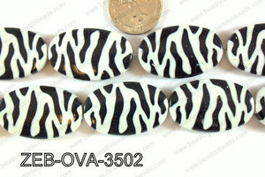 Zebra Bead Oval 22x35mm ZEB-OVA-3502