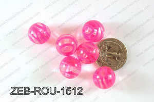 Zebra Bead Round 500g Bag 15mm ZEB-ROU-1512