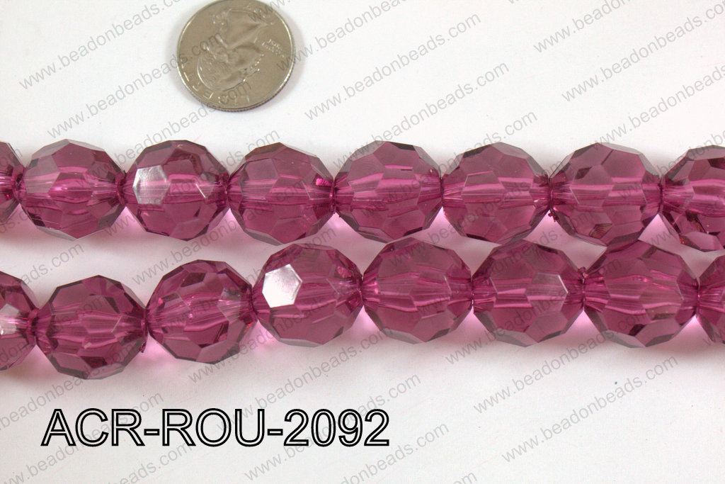 Acrylic Round faceted 20mm  ACR-ROU-2092