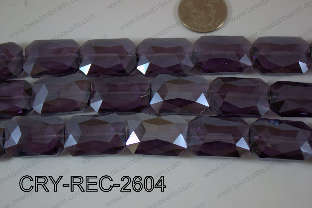 Angelic Crystal Rectangle Faceted 18x26mm CRY-REC-2604