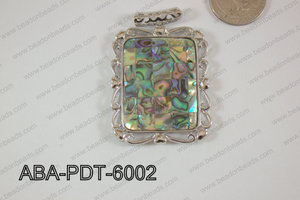 Abalone Pendant Rectangle 40x60mm ABA-PDT-6002
