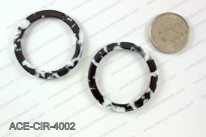 Acetate circle pendants 40mm ACE-CIR-4002