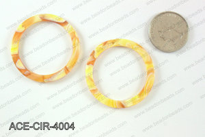 Acetate circle pendants 40mm ACE-CIR-4004