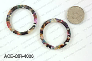 Acetate circle pendants 40mm ACE-CIR-4006