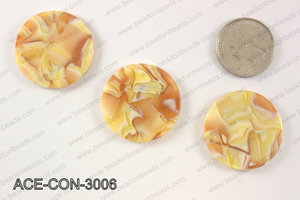 Acetate Coin Pendants 30mm ACE-CON-3006