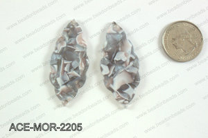 Acetate moroccan pendants 22x50mm ACE-MOR-2205