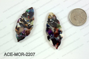 Acetate moroccan pendants 22x50mm ACE-MOR-2207