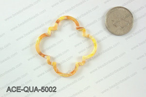 Acetate quatrefoil pendants 50x50mm ACE-QUA-5002