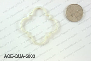 Acetate quatrefoil pendants 50x50mm ACE-QUA-5003