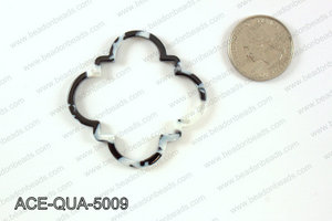 Acetate quatrefoil pendants 50x50mm ACE-QUA-5009