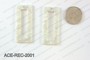 Acetate rectangle pendants 20x50mm ACE-REC-2001
