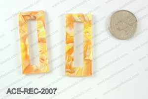 Acetate rectangle pendants 20x50mm ACE-REC-2007