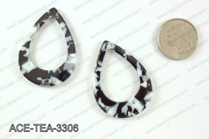Acetate teardrop pendants 33x45mm ACE-TEA-3306