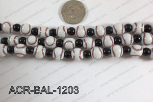 Acrylic Round Ball 12mm baseball ACR-BAL-1203