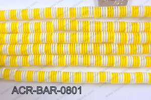 Acrylic Barrel 8x8mm ACR-BAR-0801
