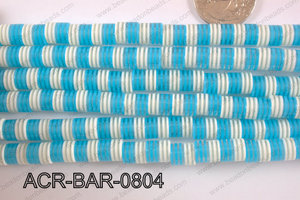 Acrylic Barrel 8x8mm ACR-BAR-0804