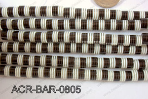 Acrylic Barrel 8x8mm ACR-BAR-0805